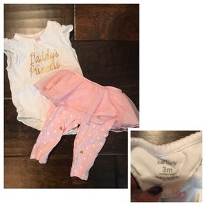 Other - 6 baby items for $15! Daddy's Princess Set 3 Month